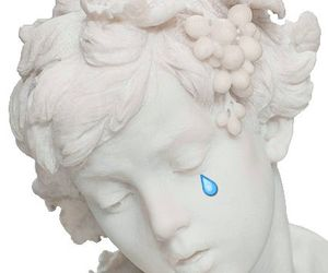 statue, white, and aesthetic image
