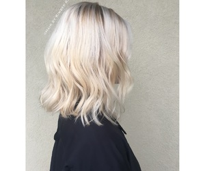 blonde, hair, and hairinspo image