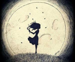 moon, night, and art image