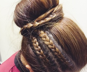 braid, girly, and hair image