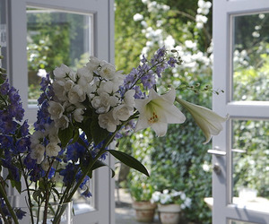 country, floral, and garden image