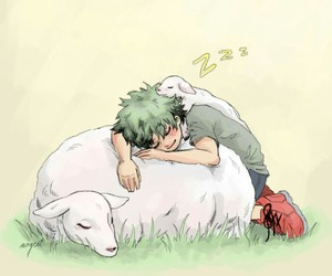 anime, kawaii, and sleepy image