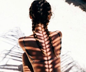 beach, braid, and nature image