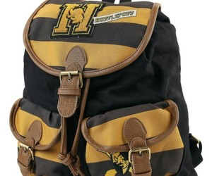 backpack, harry potter, and hufflepuff image