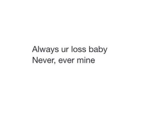 Your loss baby 💋 @nakdfashion on We Heart It
