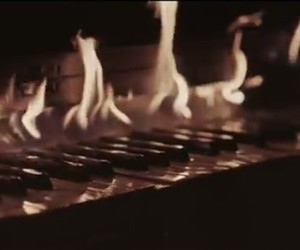 fire and piano image