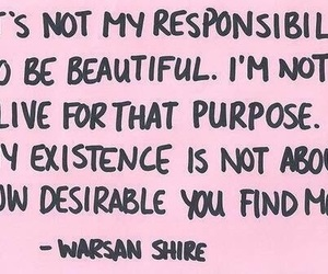 quotes, feminism, and warsan shire image