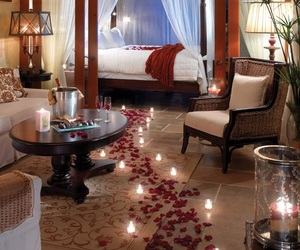 romantic, rose, and bedroom image