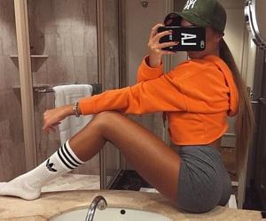 girl, fashion, and adidas image