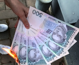 money and fire image