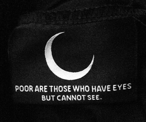quotes, moon, and black image