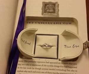 engagement, true love, and harry potter image