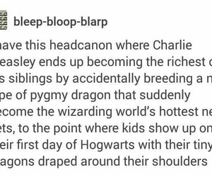 dragon, harry potter, and charlie weasley image