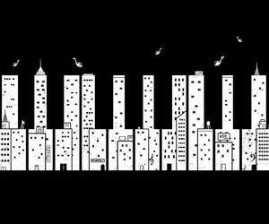 piano, music, and city image