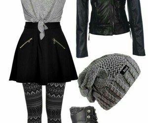 beanie, boots, and fashion image