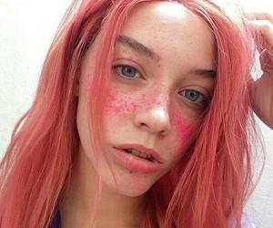 hair, indie, and pink image