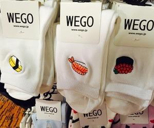 socks, sushi, and white image