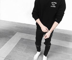 black and white, sneakers, and men fashion image