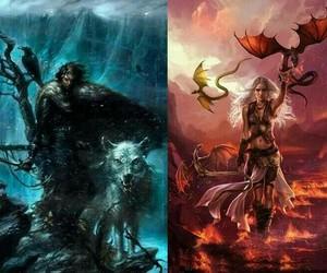 daenerys targaryen, dragon, and game of thrones image