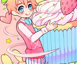 hetalia, art, and cupcake image