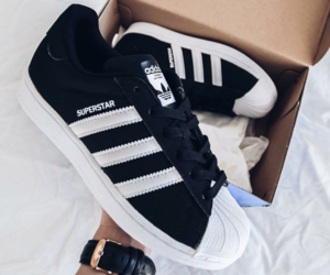 adidas, adidas shoes, and black ans white image