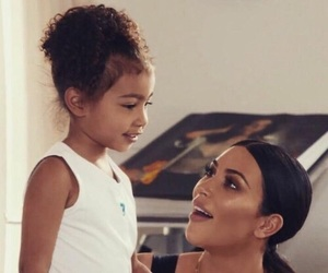 kim kardashian, north west, and north image