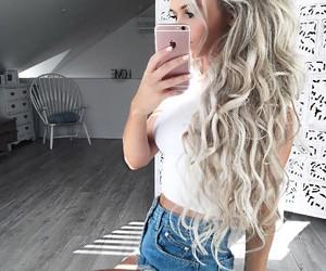 girl, hair, and hair dye image