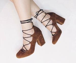 brown, heels, and Nude image