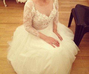 bride, gown, and lace image