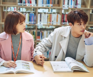 couple, k-drama, and park bo young image