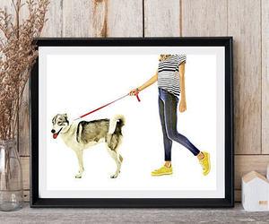 animal print, dog walk, and etsy image
