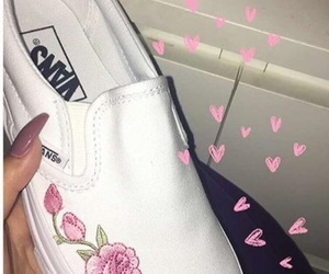 shoes, vans, and roses image