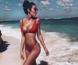 bali, beach, and bikini image