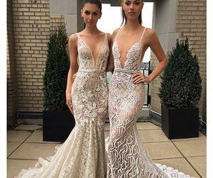 bride, wedding, and wedding dress image