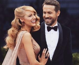 couple, blake lively, and ryan reynolds image