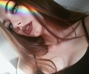 girl, rainbow, and tumblr image