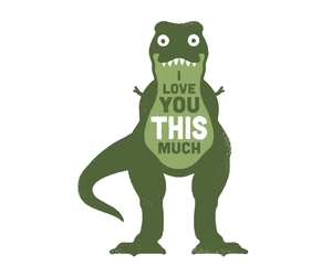 love, dinosaur, and funny image