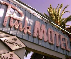 pink, motel, and aesthetic image