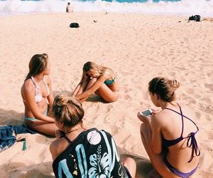 beach, friends, and girls image