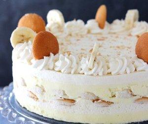 banana, party, and icebox cake image