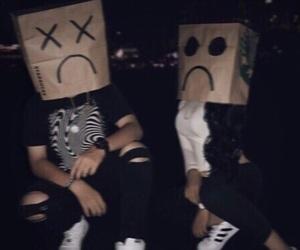 sad, grunge, and black image