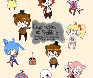 foxy, Freddy, and puppet image
