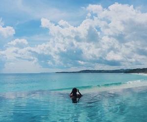 blue, paradise, and girl image