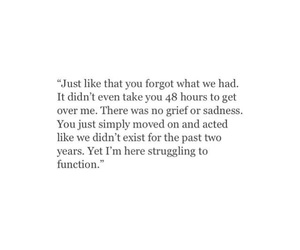 heartbroken, him, and move on image