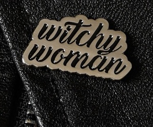 black, goth, and witch image