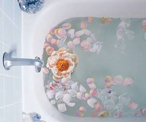 bath and flowers image