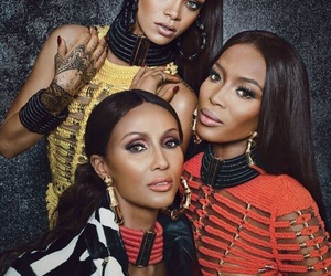 rihanna, Iman, and Naomi Campbell image