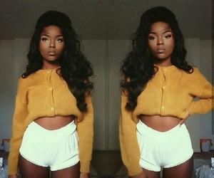 beauty, women, and black women image