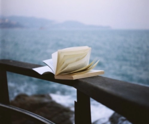 book, sea, and books image