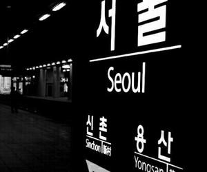 seoul, korea, and dark image